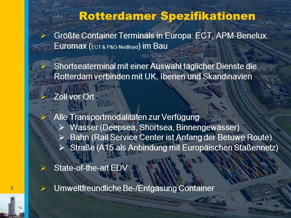 7 Rotterdam - Mainport Nicht ein, sondern fünf unterschiedliche Gebiete 1 2 3 4 5