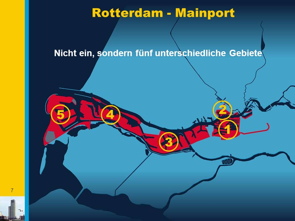 8 Euromax terminal APM Delta terminal ECT Delta terminal ECT Home terminal Hanno/ECT Uniport/Steinweg Rotterdam, multifunktionaler Hafen DFDS-Torline Cobelfret P&O - NSF Rotterdam Car Terminal Rotterdam Car Center