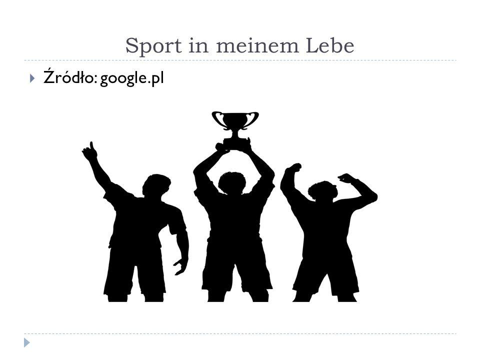 Sport in meinem Lebe  Źródło: google.pl