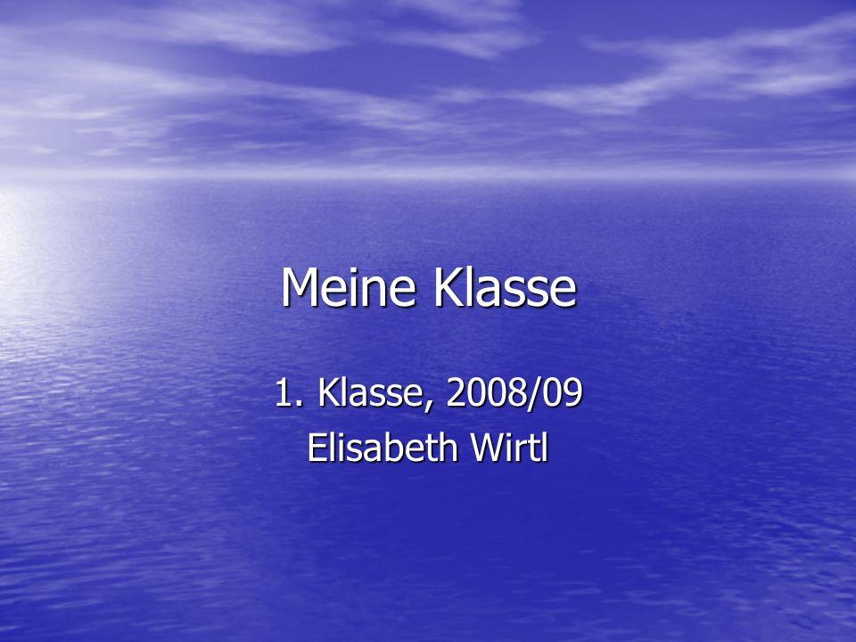 Meine Klasse 1. Klasse, 2008/09 Elisabeth Wirtl