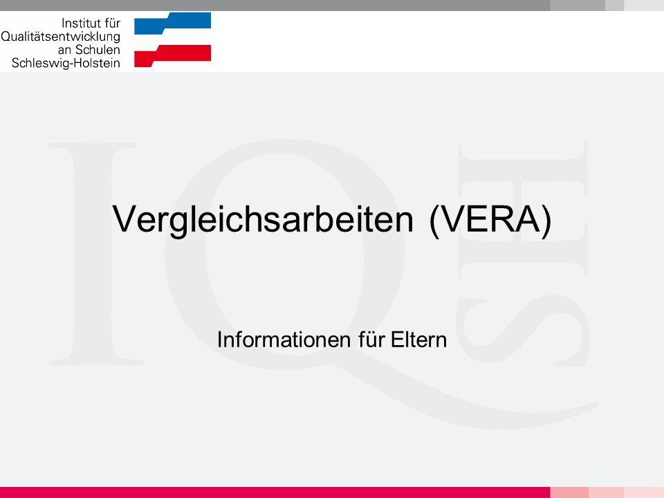 """Hintergrund von VERA Vergleichsarbeiten sind von der Kultusministerkonferenz (KMK) beschlossen worden (""""Plöner Beschlüsse vom 2.6.06)."""