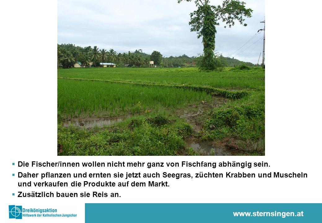 www.sternsingen.at  Die Fischer/innen wollen nicht mehr ganz von Fischfang abhängig sein.