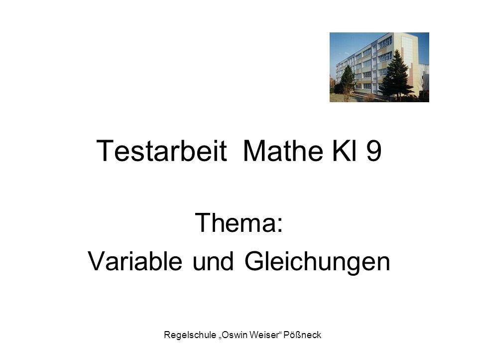 """Regelschule """"Oswin Weiser Pößneck 1.Löse die Klammern auf."""