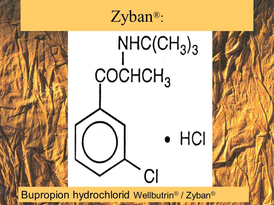 Bupropion hydrochlorid Wellbutrin ® / Zyban ® Zyban ® :