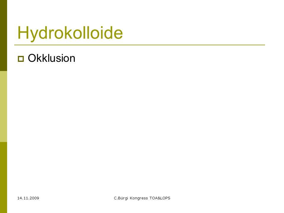 14.11.2009C.Bürgi Kongress TOA&LOPS Gitternetzauflagen  Mepitel= Silikonauflage  Adaptic= Fettgaze  Jelonet= Fettgaze  Lomatuell= Fettgaze  Atrauman= Fettagaze  Bactigras= Fettgaze mit Chlorhexidin  Sofra-tulle= Antibiotikazusatz (ausser Handel)  Fucidin= Fungizidzusatz  Betadine-Platzli= Jod  Ialugen = Hyaloronsäure und Silber