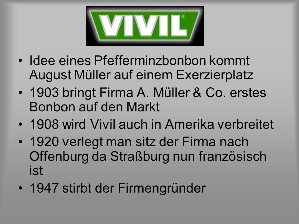 Idee eines Pfefferminzbonbon kommt August Müller auf einem Exerzierplatz 1903 bringt Firma A.