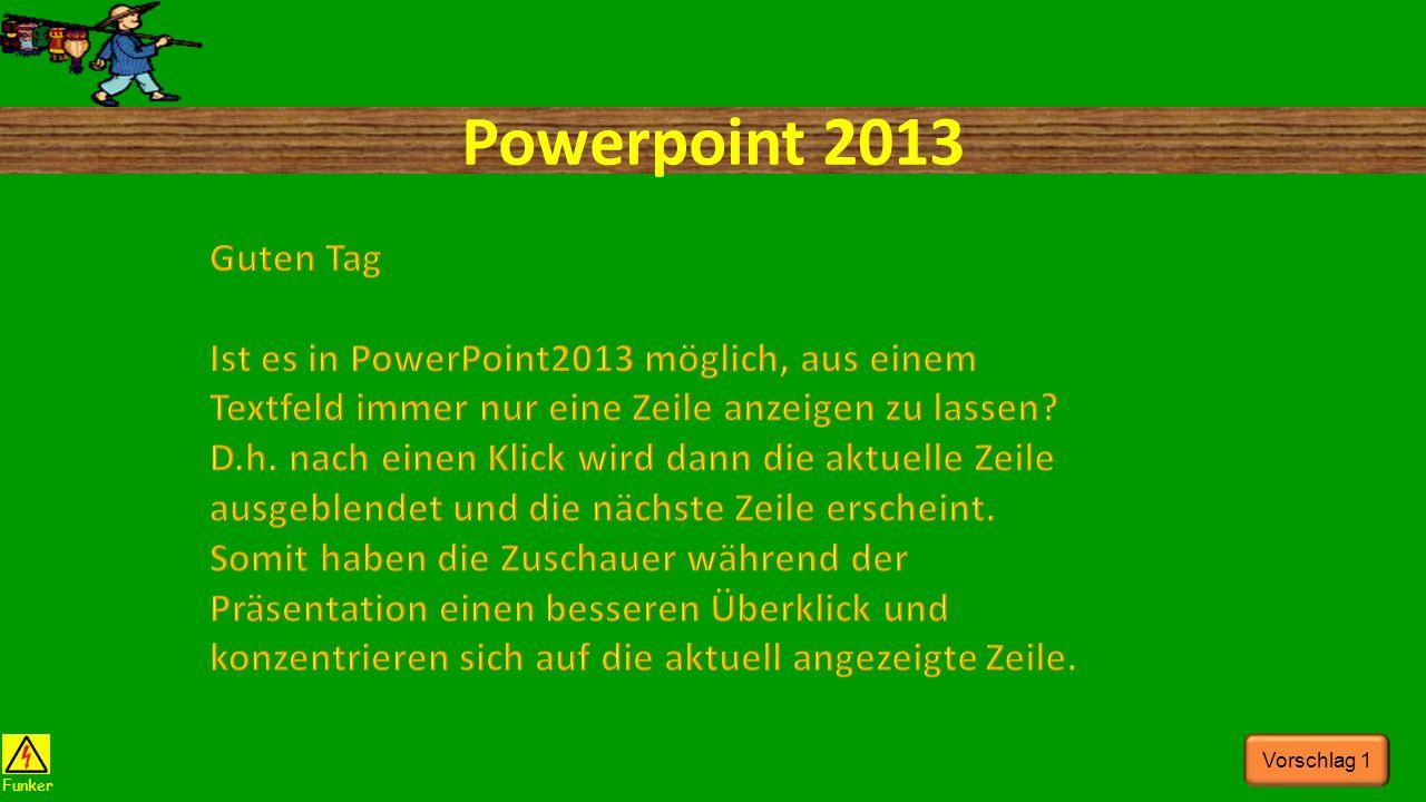 Powerpoint 2013 Funker Vorschlag 1