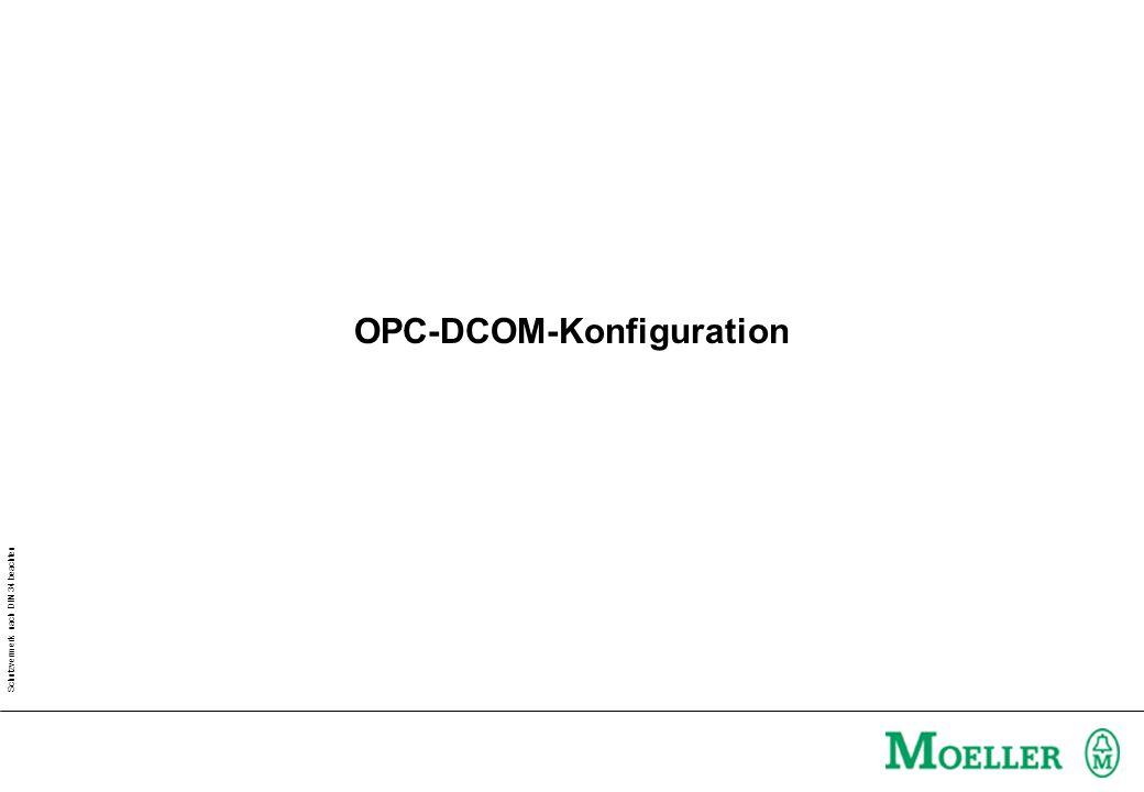 Schutzvermerk nach DIN 34 beachten OPC-DCOM-Konfiguration