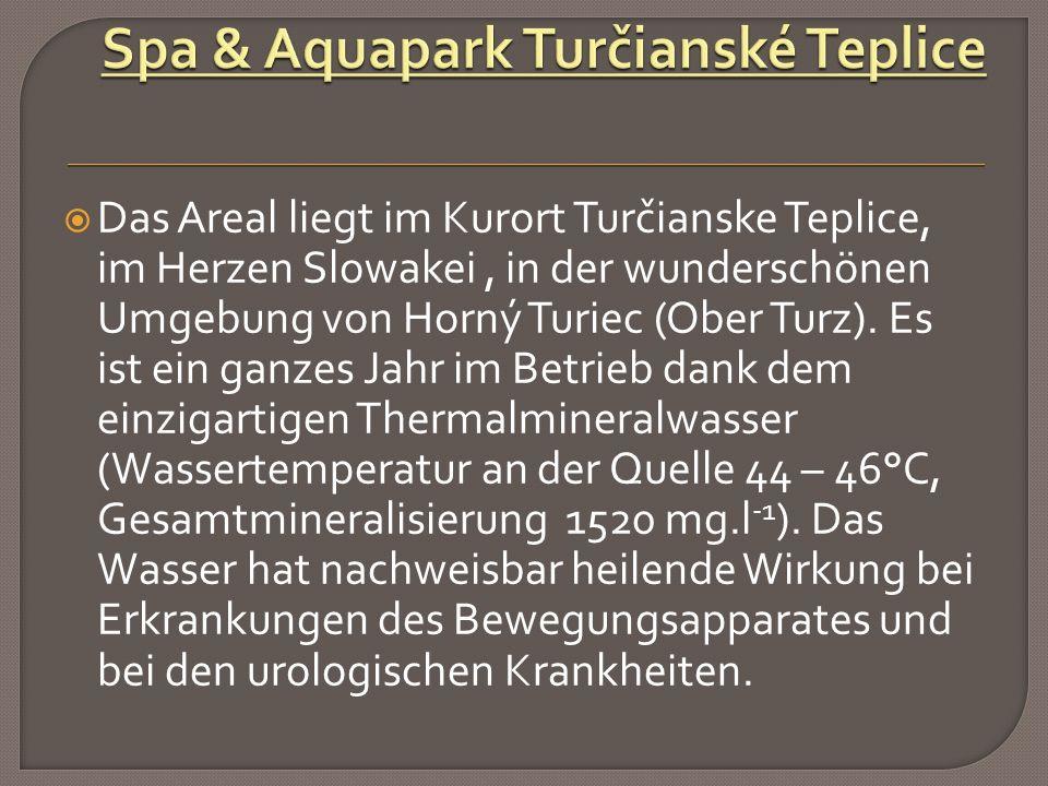  Das Areal liegt im Kurort Turčianske Teplice, im Herzen Slowakei, in der wunderschönen Umgebung von Horný Turiec (Ober Turz).