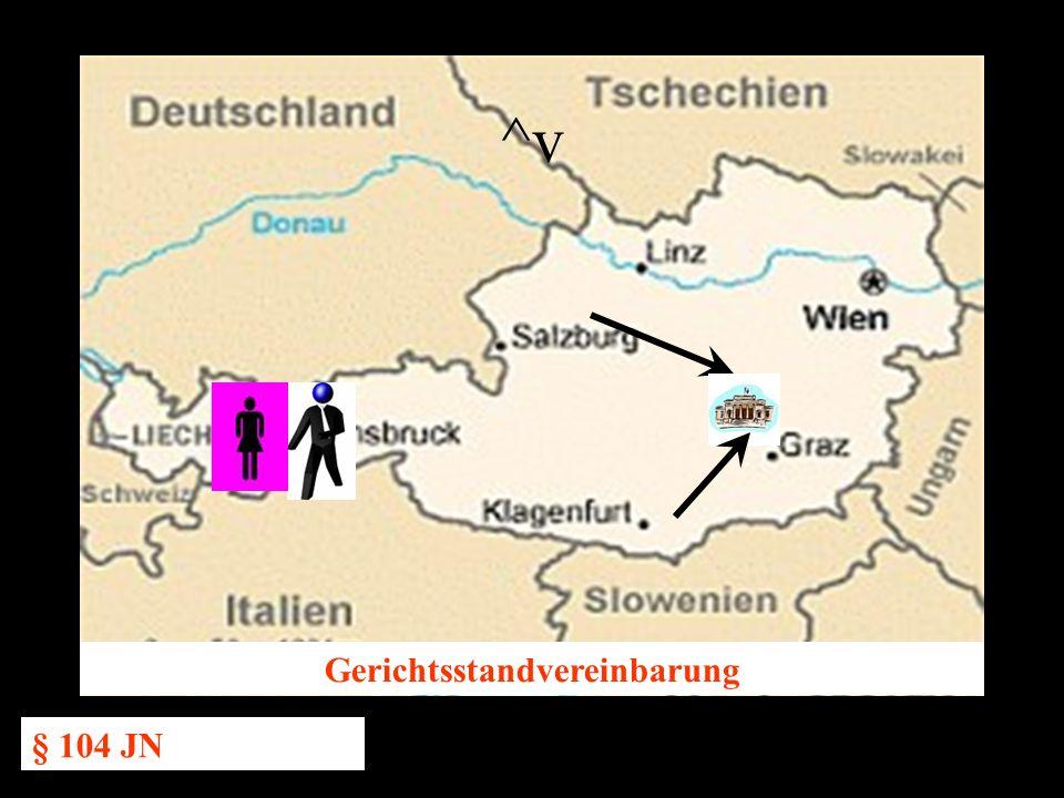 14.10.2005 Dr. Günter Tews Gerichtsstandvereinbarung § 104 JN ^v
