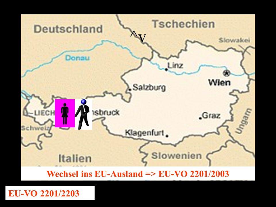14.10.2005 Dr. Günter Tews Wechsel ins EU-Ausland => EU-VO 2201/2003 EU-VO 2201/2203 ^v