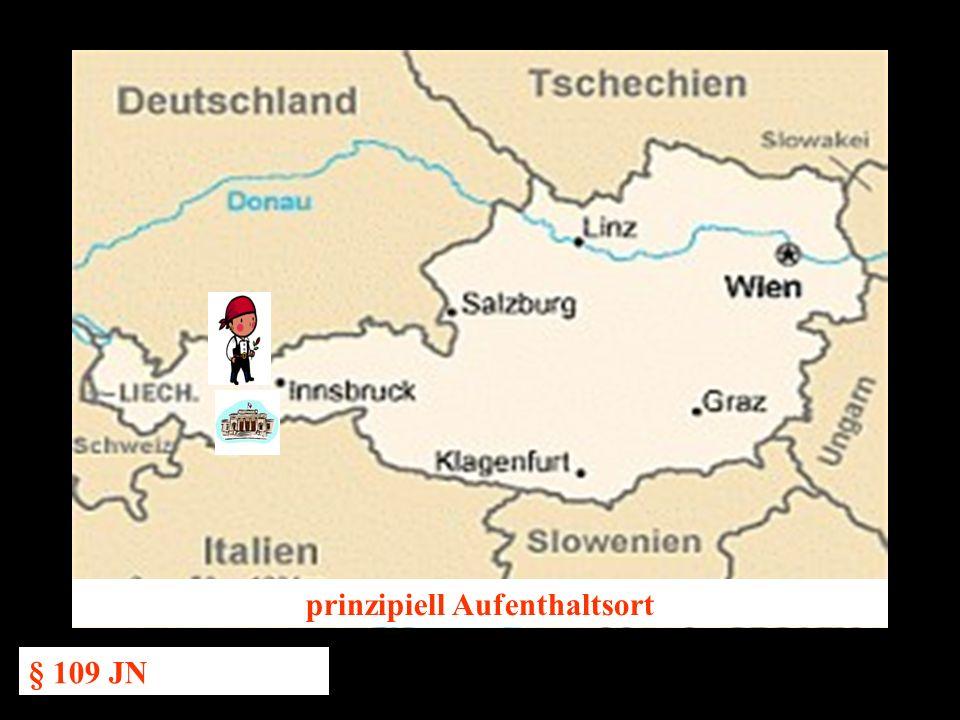 14.10.2005 Dr. Günter Tews prinzipiell Aufenthaltsort § 109 JN