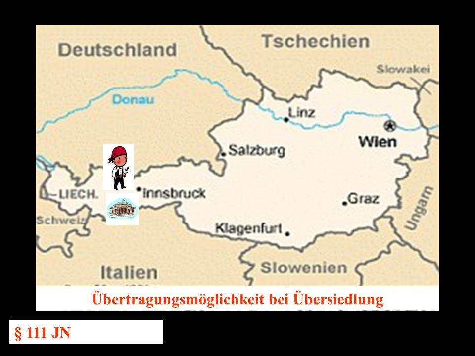 14.10.2005 Dr. Günter Tews Übertragungsmöglichkeit bei Übersiedlung § 111 JN