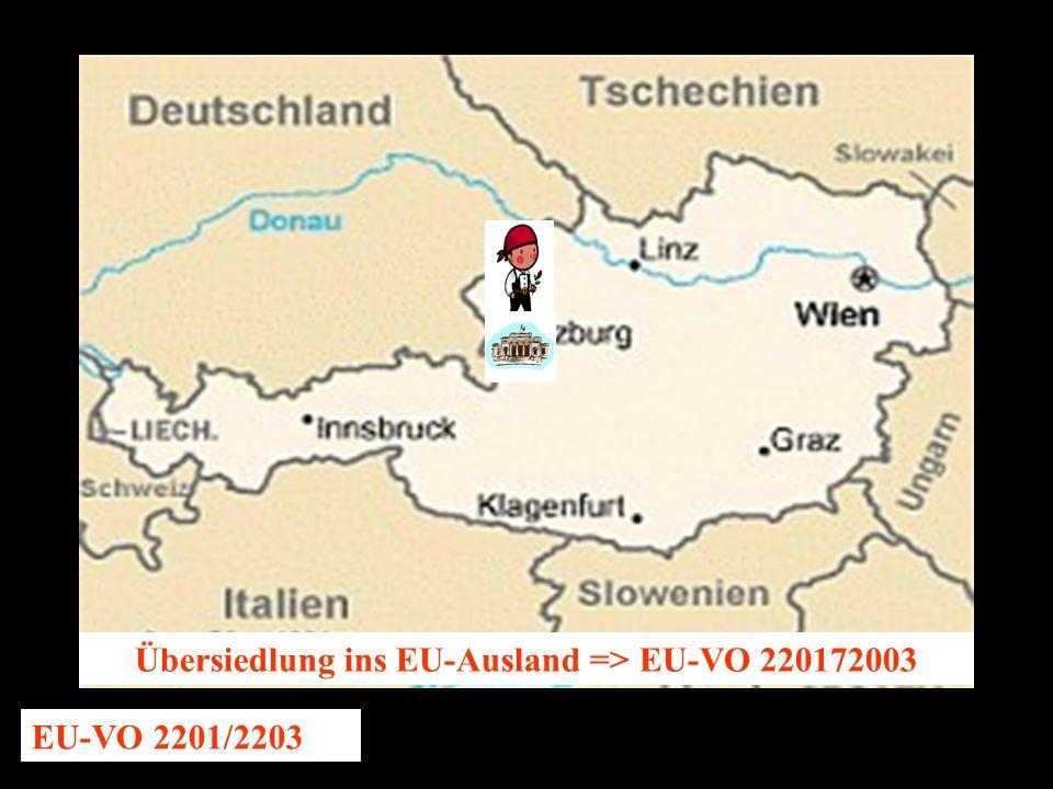 14.10.2005 Dr. Günter Tews Übersiedlung ins EU-Ausland => EU-VO 220172003 EU-VO 2201/2203