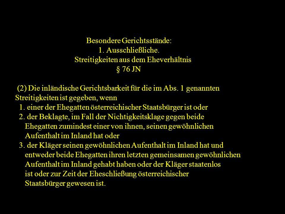 14.10.2005 Dr. Günter Tews Besondere Gerichtsstände: 1.