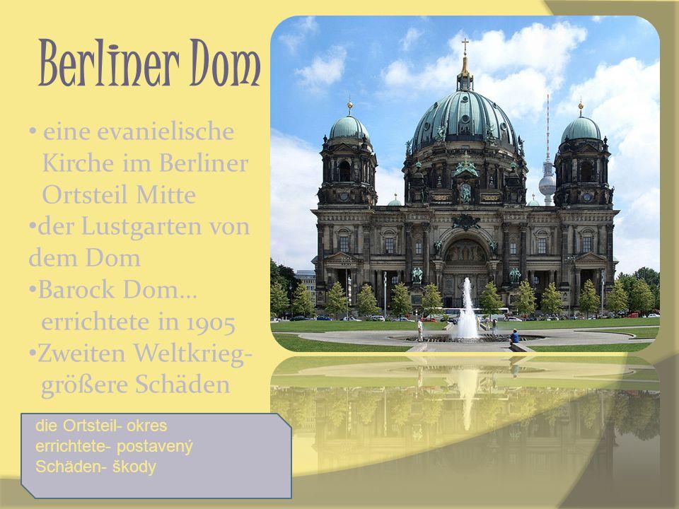 Berliner Dom eine evanielische Kirche im Berliner Ortsteil Mitte der Lustgarten von dem Dom Barock Dom... errichtete in 1905 Zweiten Weltkrieg- größer