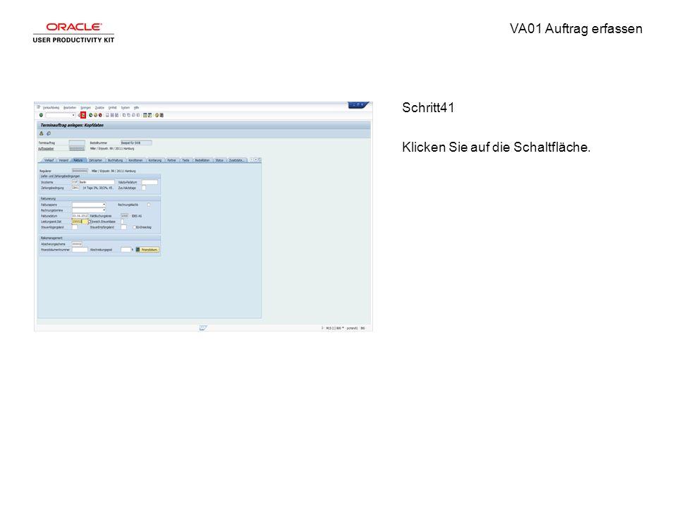 VA01 Auftrag erfassen Schritt41 Klicken Sie auf die Schaltfläche.