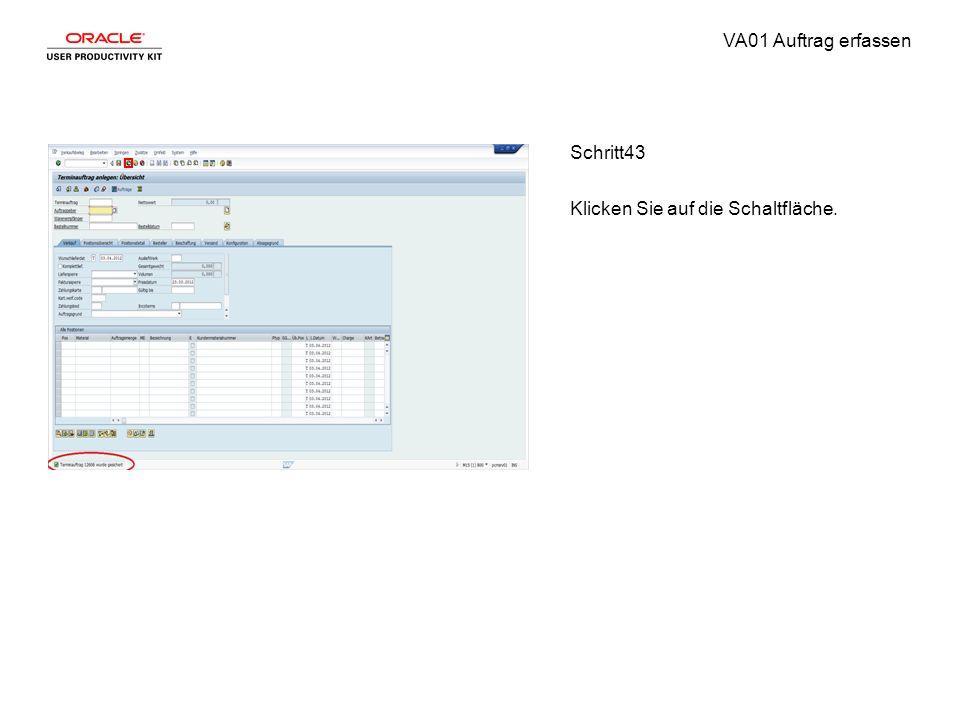 VA01 Auftrag erfassen Schritt43 Klicken Sie auf die Schaltfläche.