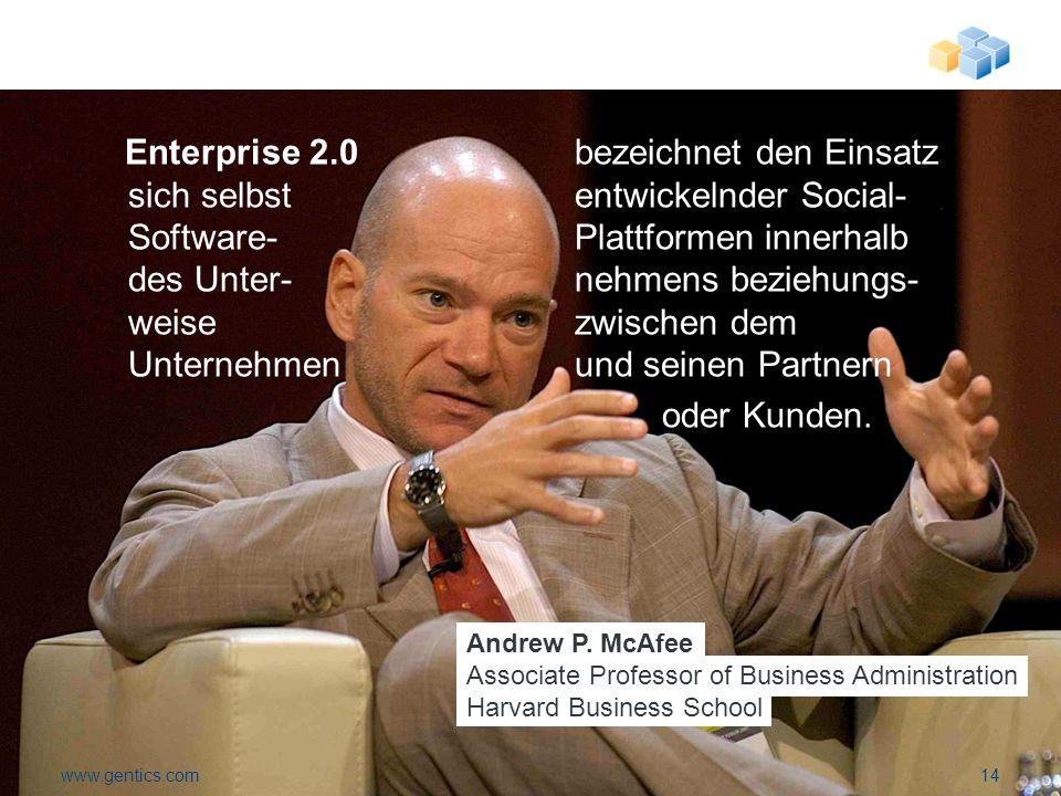 Enterprise 2.0 bezeichnet den Einsatz sich selbst entwickelnder Social- Software-Plattformen innerhalb des Unter-nehmens beziehungs- weise zwischen dem Unternehmen und seinen Partnern oder Kunden.