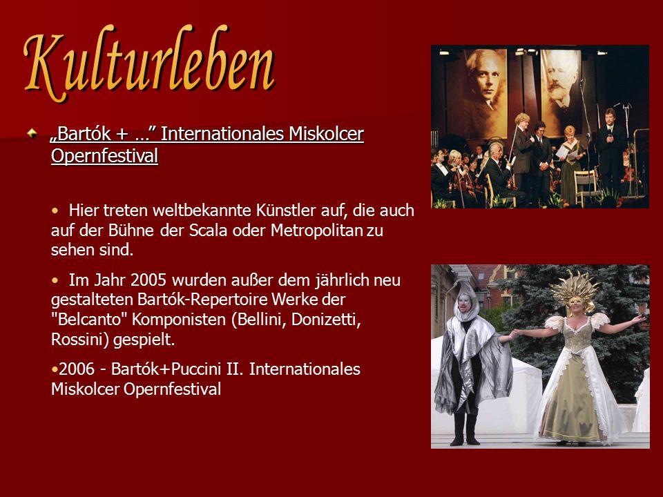 """""""Bartók + … Internationales Miskolcer Opernfestival """"Bartók + … Internationales Miskolcer Opernfestival Hier treten weltbekannte Künstler auf, die auch auf der Bühne der Scala oder Metropolitan zu sehen sind."""