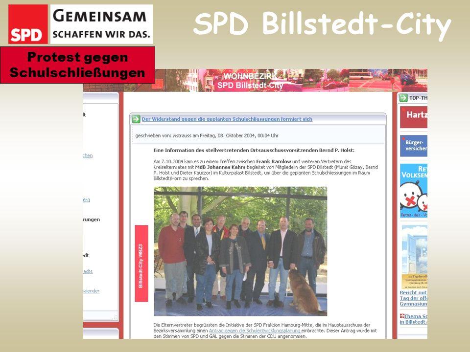 SPD Billstedt-City Protest gegen Schulschließungen