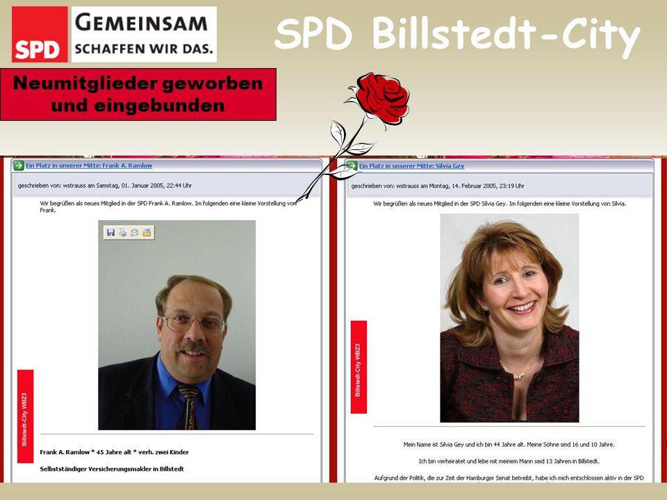 SPD Billstedt-City Neumitglieder geworben und eingebunden
