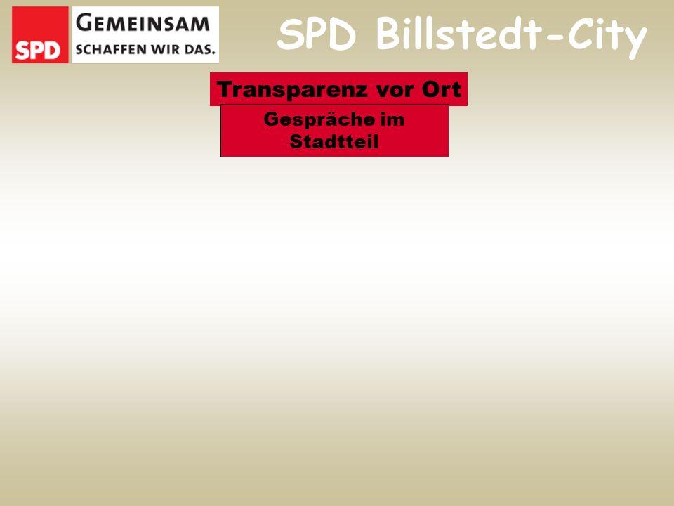 SPD Billstedt-City Transparenz vor Ort Gespräche im Stadtteil
