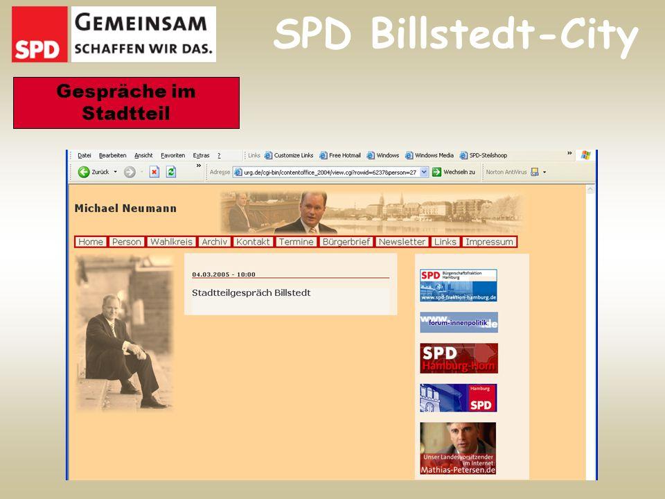 SPD Billstedt-City Gespräche im Stadtteil
