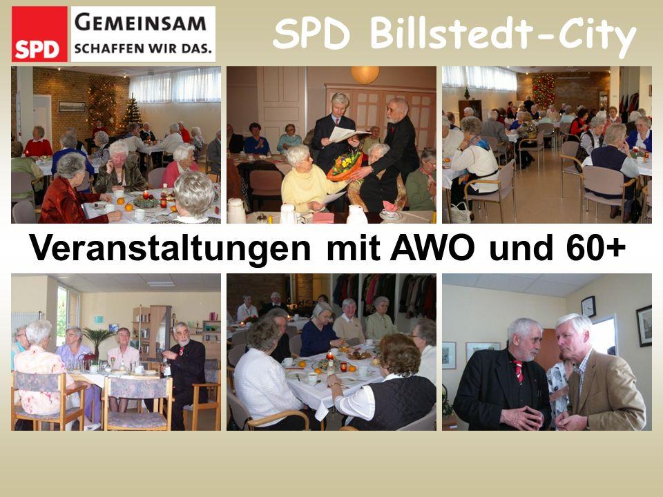 Veranstaltungen mit AWO und 60+ SPD Billstedt-City