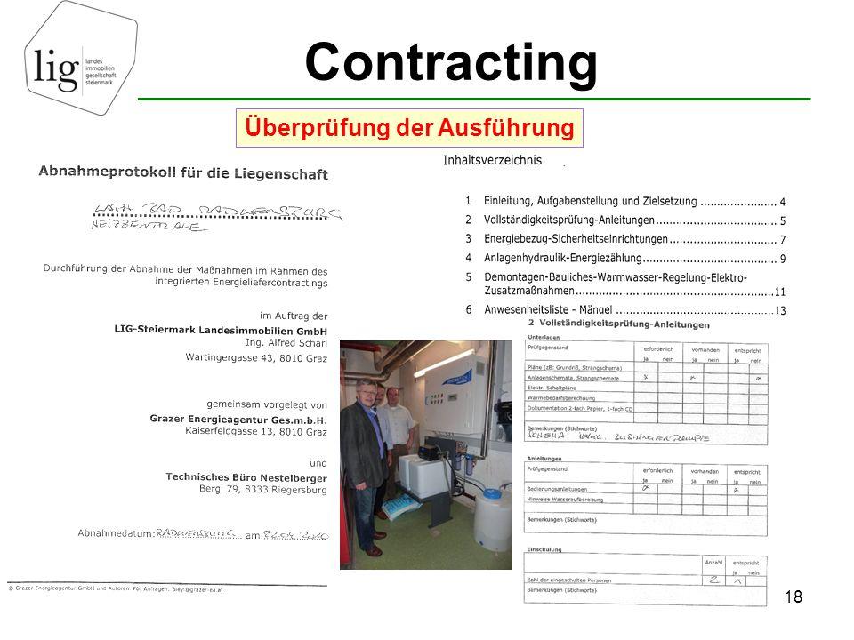 Contracting 18 Überprüfung der Ausführung