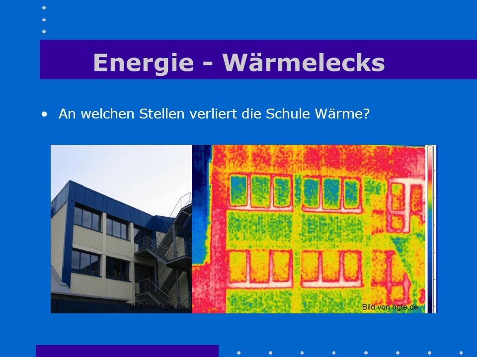 Energie - Wärmelecks An welchen Stellen verliert die Schule Wärme?