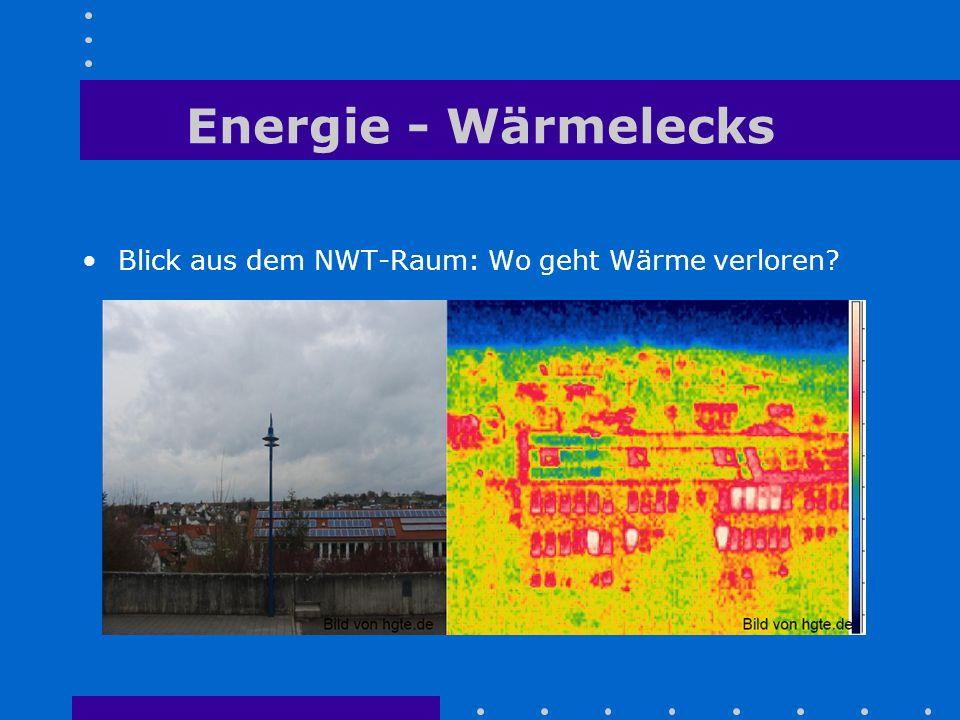 Energie - Wärmelecks Blick aus dem NWT-Raum: Wo geht Wärme verloren?