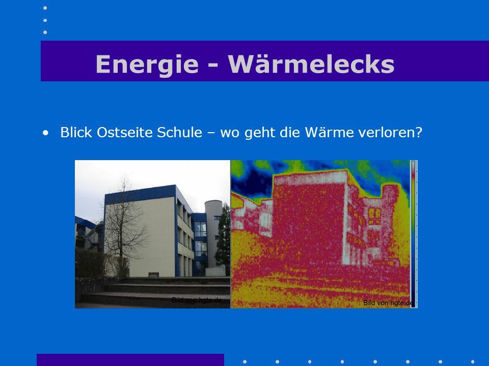 Energie - Wärmelecks Blick Ostseite Schule – wo geht die Wärme verloren?
