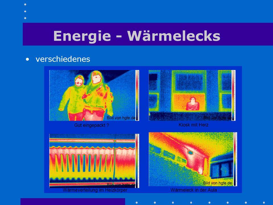 Energie - Wärmelecks verschiedenes