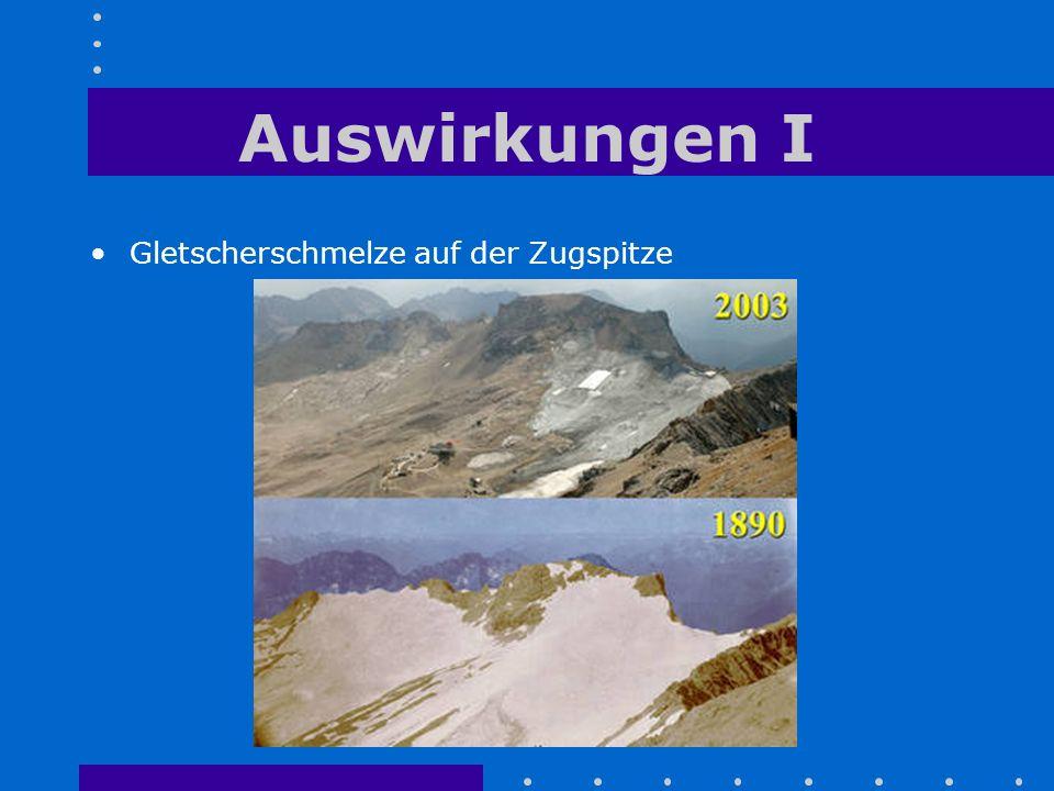Auswirkungen I Gletscherschmelze auf der Zugspitze