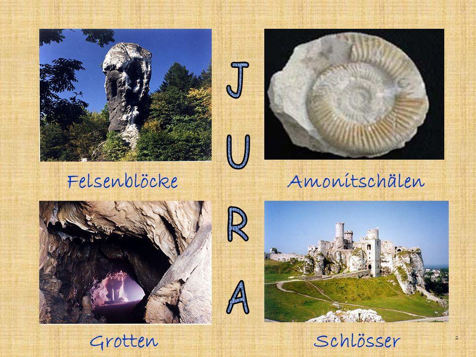 Der Jura – das sind romantische Burgruinen und viele orginelle Felsenblöcke, mit denen die ganze Gegend assoziert wird.