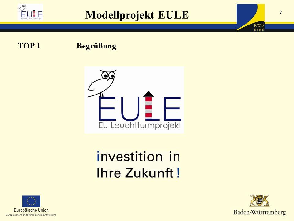 Modellprojekt EULE 2 TOP 1Begrüßung