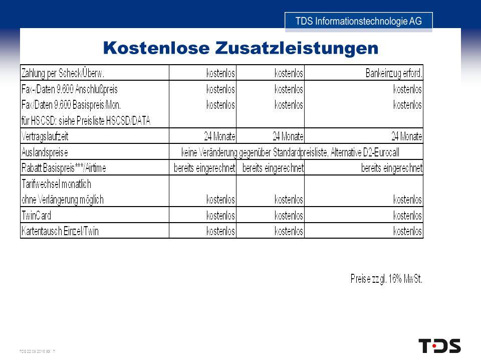 TDS 22.09.2015 XX 7 Kostenlose Zusatzleistungen