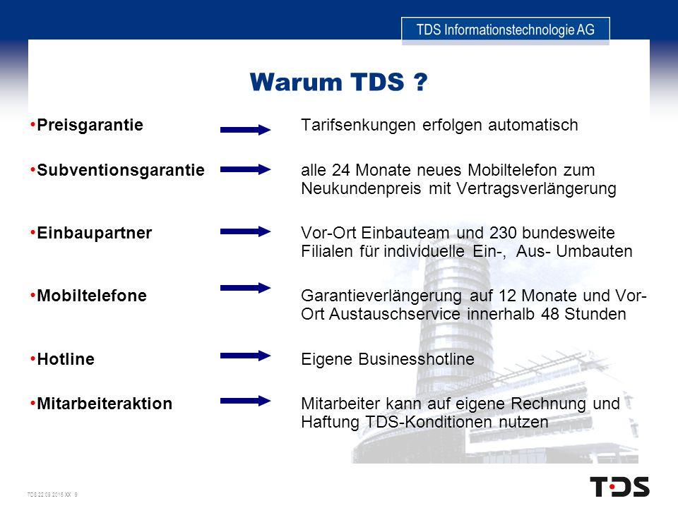 TDS 22.09.2015 XX 9 Warum TDS .