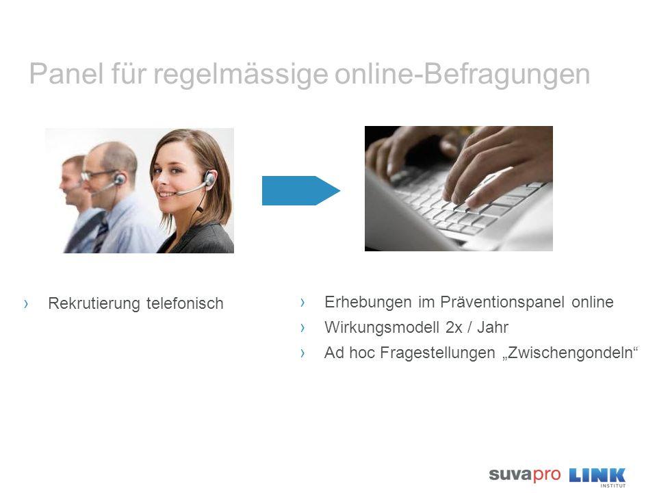 Panel für regelmässige online-Befragungen › Rekrutierung telefonisch › Erhebungen im Präventionspanel online › Wirkungsmodell 2x / Jahr › Ad hoc Frage