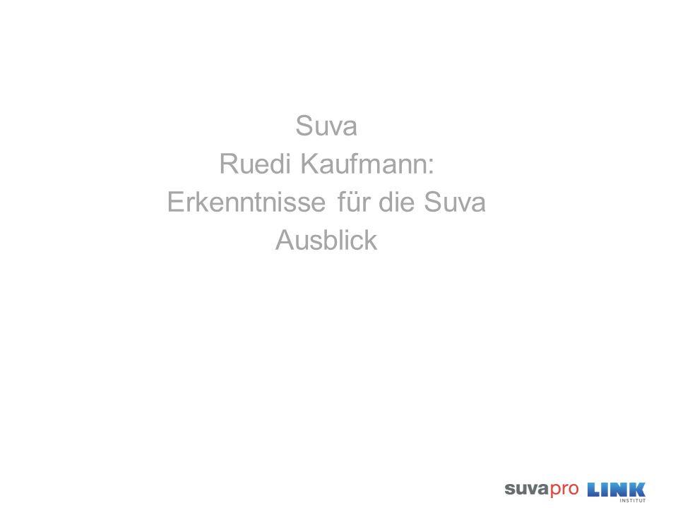 Suva Ruedi Kaufmann: Erkenntnisse für die Suva Ausblick