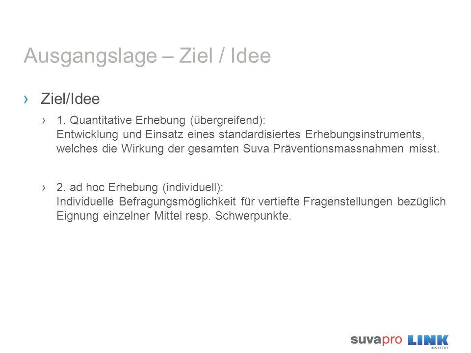 Ausgangslage – Ziel / Idee › Ziel/Idee › 1. Quantitative Erhebung (übergreifend): Entwicklung und Einsatz eines standardisiertes Erhebungsinstruments,