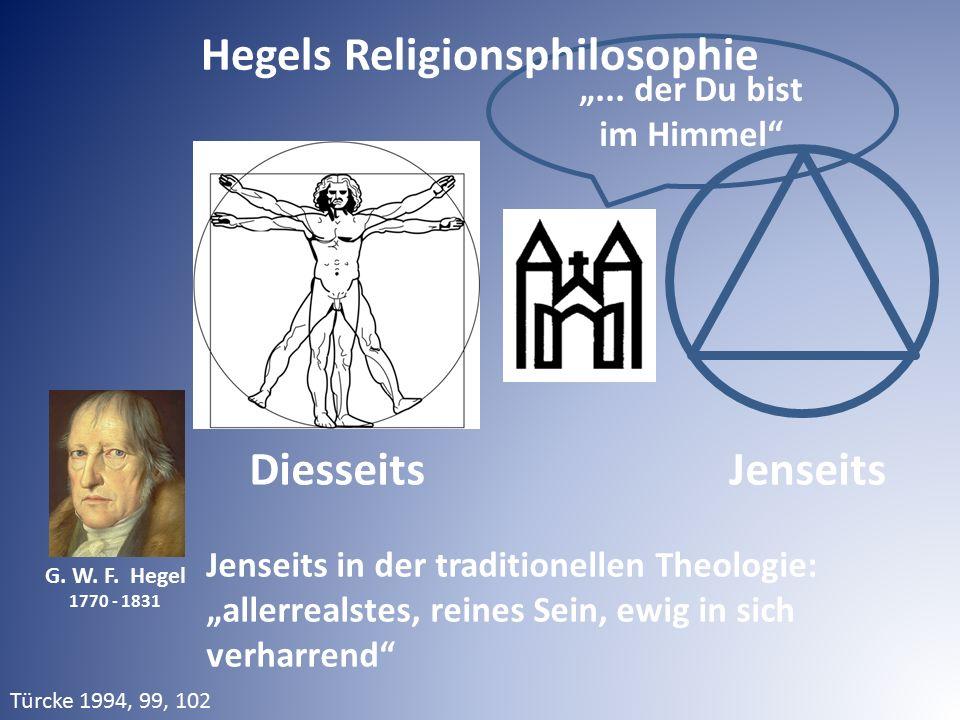 """Diesseits Jenseits Jenseits in der traditionellen Theologie: """"allerrealstes, reines Sein, ewig in sich verharrend"""" G. W. F. Hegel 1770 - 1831 """"... der"""