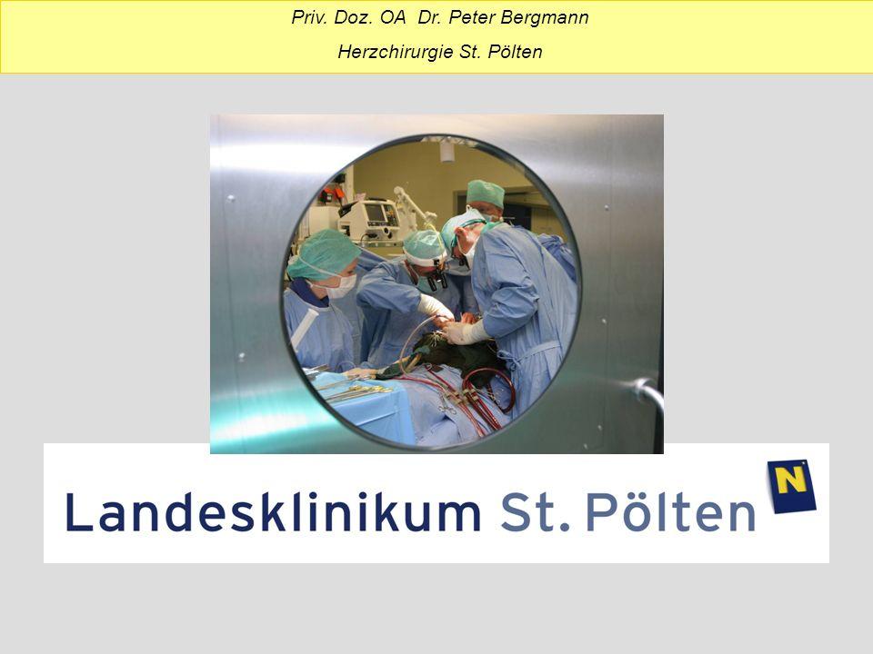KH St.Pölten, 2800 Mitarbeiter, 1077 Betten Seit 1993 Herzchirurgische Abteilung Team: Prim.