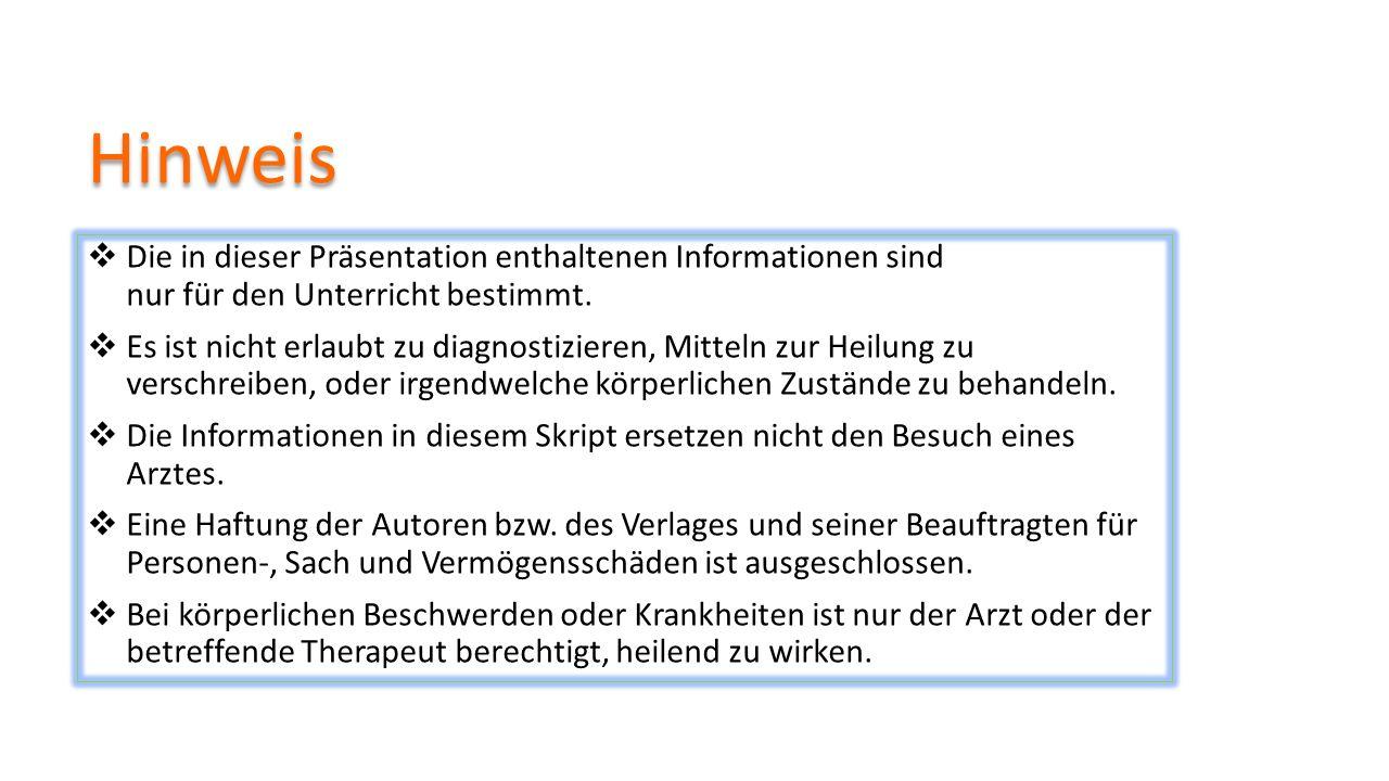 Hinweis  Die in dieser Präsentation enthaltenen Informationen sind nur für den Unterricht bestimmt.