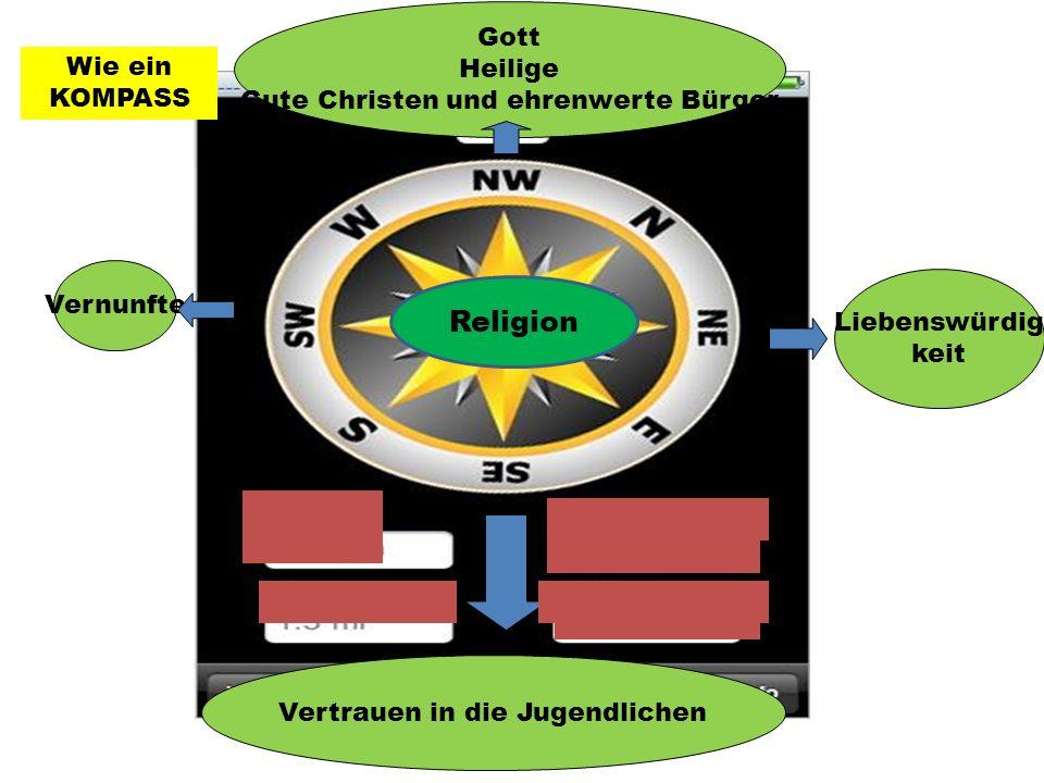 Vernunfte Liebenswürdig keit Gott Heilige Gute Christen und ehrenwerte Bürger Vertrauen in die Jugendlichen Wie ein KOMPASS Religion
