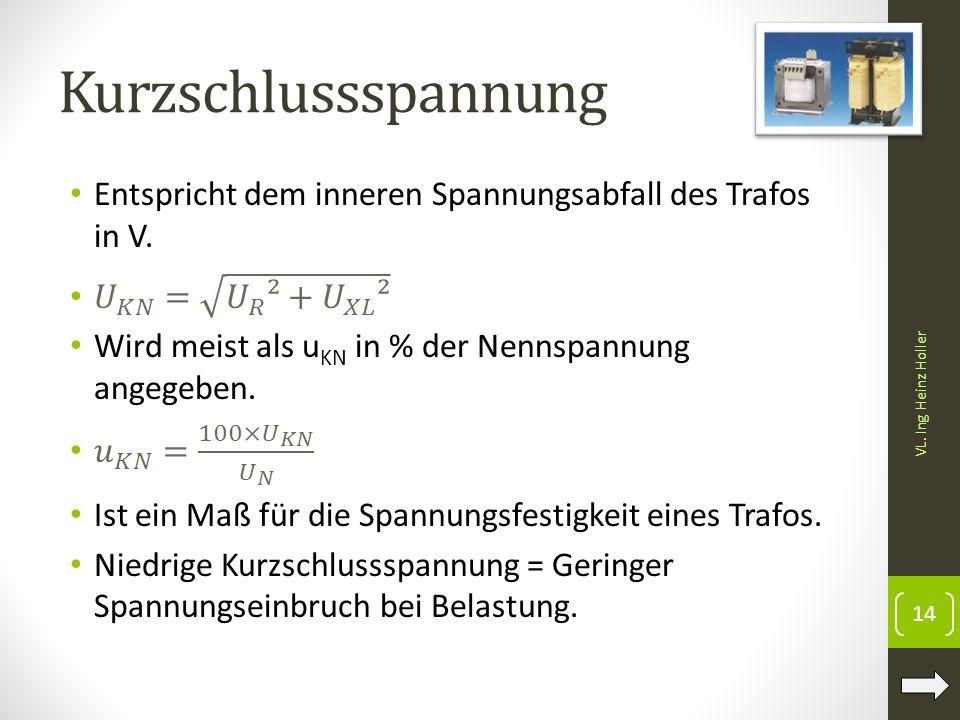 Kurzschlussspannung VL. Ing Heinz Holler 14