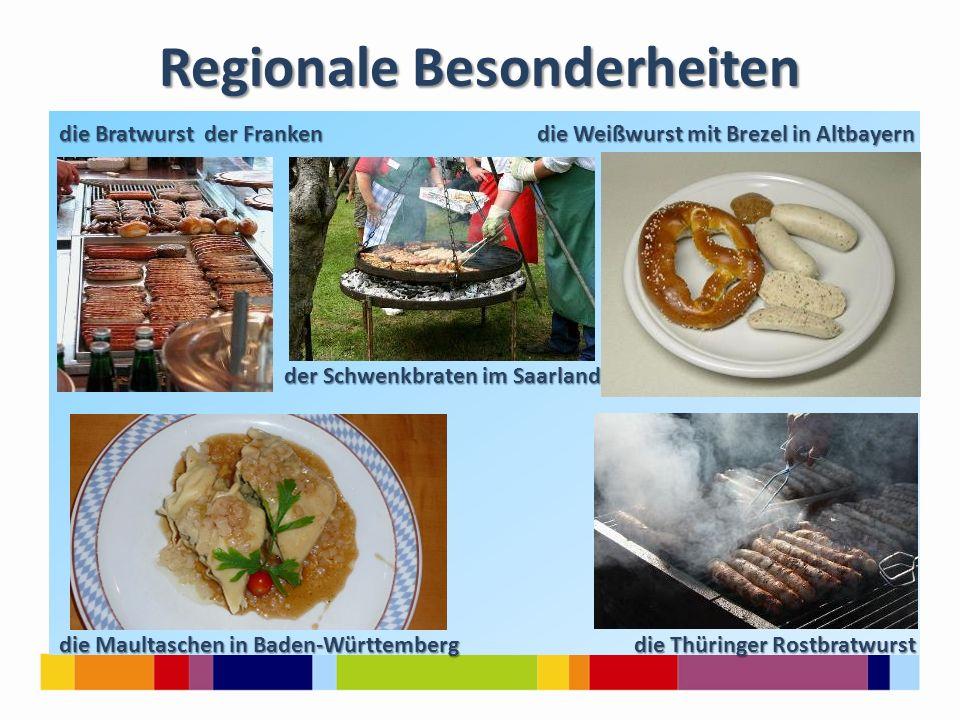 Süßes Gebäck, Kuchen und Torten Schwarzwälder Kirschtorte Frankfurter Kranz wie Schwarzwälder Kirschtorte oder Frankfurter Kranz gehören zum traditionellen Festtagsprogramm.