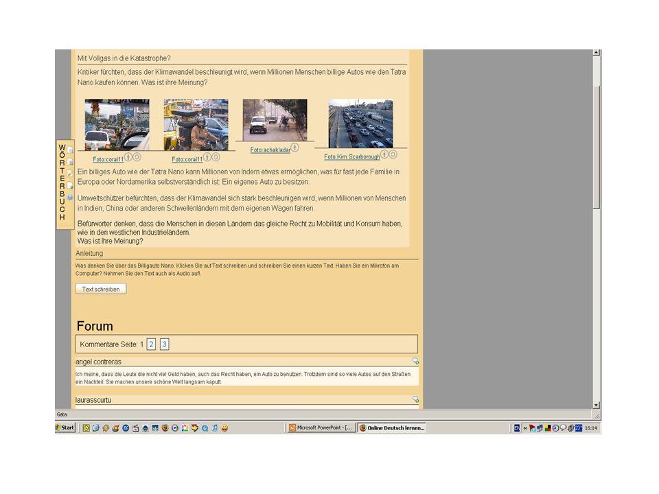Jeder Text ist bei DEUTSCHLERN.NET mit interaktiven Online Übungen verbunden, die das Lese- bzw.