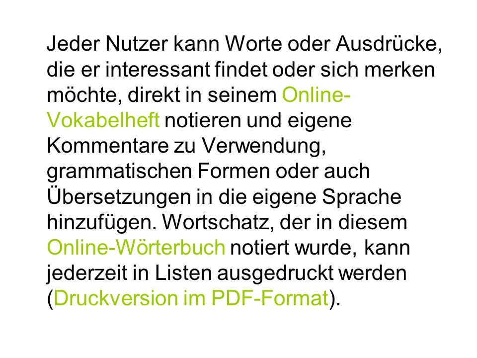 Online Wörterbuch